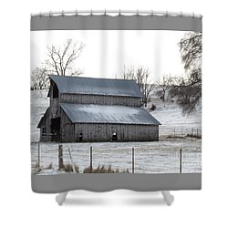 Shower Curtain featuring the photograph History Barn In Color  by J L Zarek