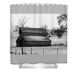 Shower Curtain featuring the photograph History Barn by J L Zarek