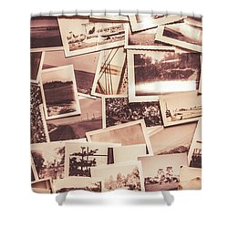 History In Still Photographs Shower Curtain