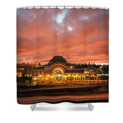 History On Fire Shower Curtain
