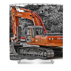 Hitachi Zaxis 270 Shower Curtain