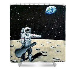 Hitchhiker With Guitar  Shower Curtain