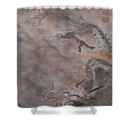 Hitofuki The Dragon Shower Curtain