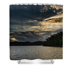 Hiwassee Lake From Hanging Dog Recreation Area Shower Curtain