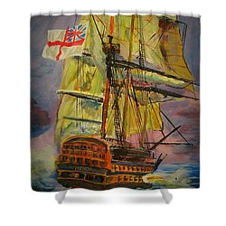 Hms Hero Shower Curtain