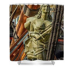 Shower Curtain featuring the photograph Hms Surprise by Bill Gallagher