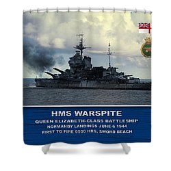 Hms Warspite Shower Curtain by John Wills