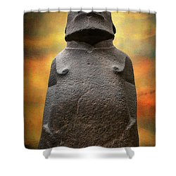 Shower Curtain featuring the photograph Hoa Hakananaia by Adrian Evans