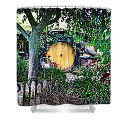 Hobbit Bungalow Shower Curtain by Kathy Kelly
