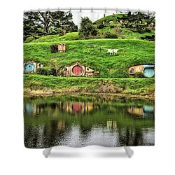Hobbit By The Lake Shower Curtain
