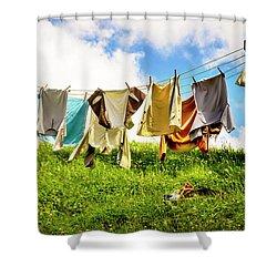 Hobbit Clothesline Shower Curtain