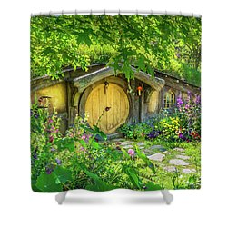 Hobbit Cottage Shower Curtain