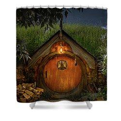 Hobbit Dwelling Shower Curtain