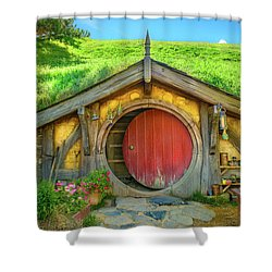Hobbit House Shower Curtain by Racheal Christian