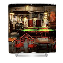 Shower Curtain featuring the photograph Hobby - Pool - The Billiards Club 1915 by Mike Savad