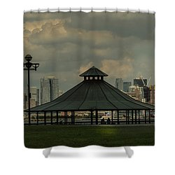 Hoboken, Nj -pier A Park Gazebo Shower Curtain
