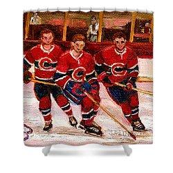 Hockey At The Forum Shower Curtain by Carole Spandau