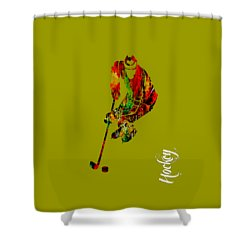 Hockey Collection Shower Curtain by Marvin Blaine