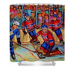 Hockey  Hero Shower Curtain by Carole Spandau
