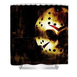 Hockey Mask Horror Shower Curtain