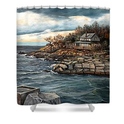 Hodgkins Cove Gloucester Ma Shower Curtain