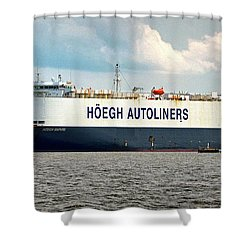 Shower Curtain featuring the photograph Hoegh Autoliners Heogh Maputo 9431850 At Curtis Bay by Bill Swartwout Fine Art Photography