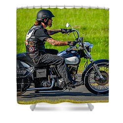 Shower Curtain featuring the photograph hog by Brian Stevens