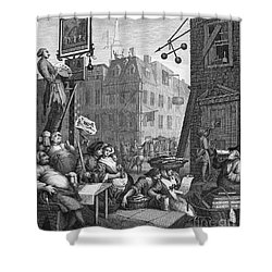 Hogarth: Beer Street Shower Curtain by Granger