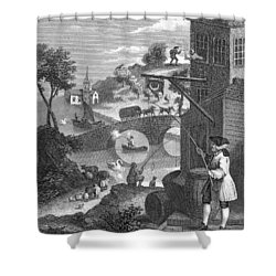 Hogarth: False Perspective Shower Curtain by Granger