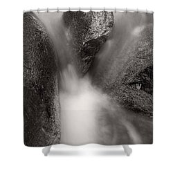 Hogback Creek And Granite Inyo Natl Forest Bw Shower Curtain by Steve Gadomski