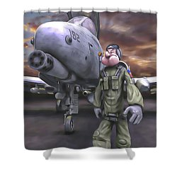 Hogman Shower Curtain