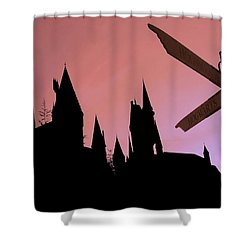 Shower Curtain featuring the photograph Hogwarts Castle by Juergen Weiss