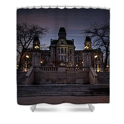 Hogwarts - Hall Of Languages Shower Curtain by Everet Regal