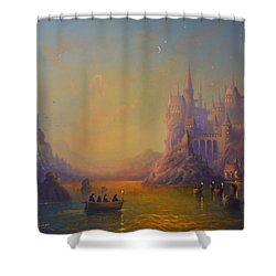 Hogwarts Castle Shower Curtain by Joe Gilronan