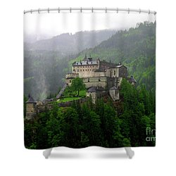 Hohenwerfen Castle Shower Curtain by Sheila Ping