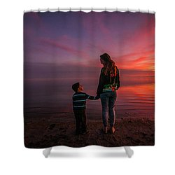Hold My Hand Little Brother Shower Curtain