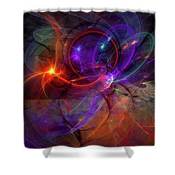 Hold On Love - Abstract Colorful Art Shower Curtain