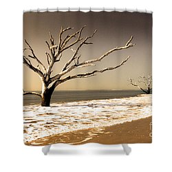 Shower Curtain featuring the photograph Hold The Line by Dana DiPasquale