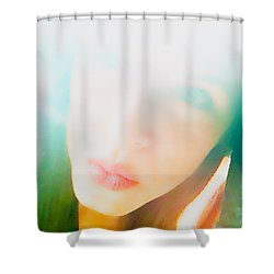 Hold Your Breath Shower Curtain by Amanda Barcon
