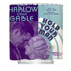 Hold Your Man Shower Curtain by Mel Thompson