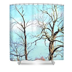 Shower Curtain featuring the photograph Holding Hands And Growing Old Together by Kerri Farley