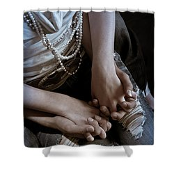 Holding Hands Shower Curtain by Scott Sawyer