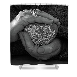 Holding My Heart In My Hands Shower Curtain