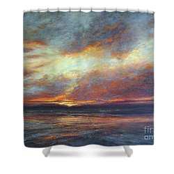 Holding On A Little Longer Shower Curtain by Valerie Travers