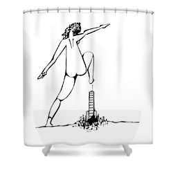Holding Pattern Shower Curtain by Keith A Link