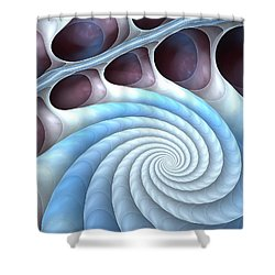 Shower Curtain featuring the digital art Holding Tight by Anastasiya Malakhova