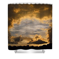 Hole In One Shower Curtain by Kathryn Meyer