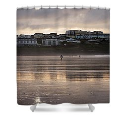 Shower Curtain featuring the photograph Hole In The Clouds by Nicholas Burningham