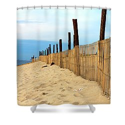 Holgate Fence Lines Shower Curtain