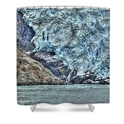 Holgate Glacier Hdr Shower Curtain by Richard J Cassato